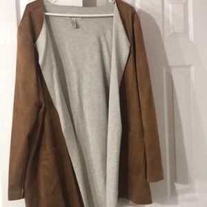 COPY - Faux suede camel jacket